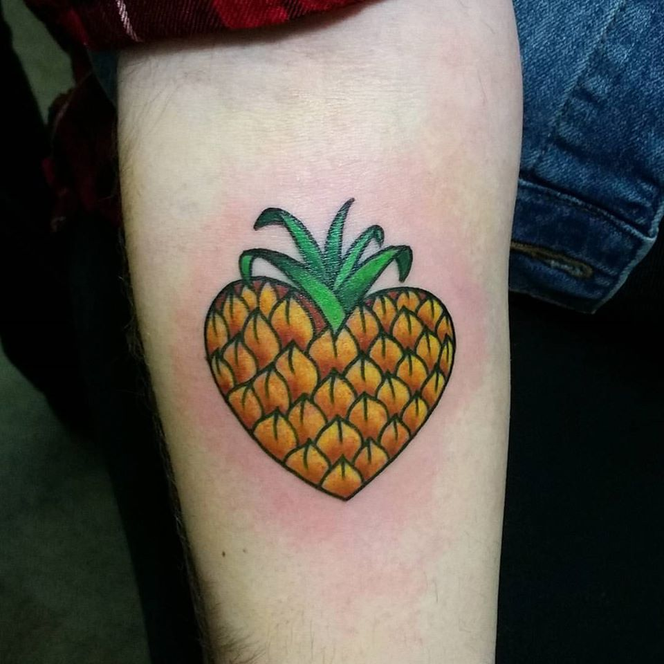 Heart shaped pineapple