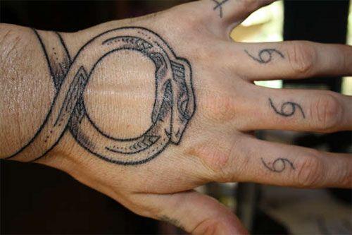 Ouroboros bracelet tattoo