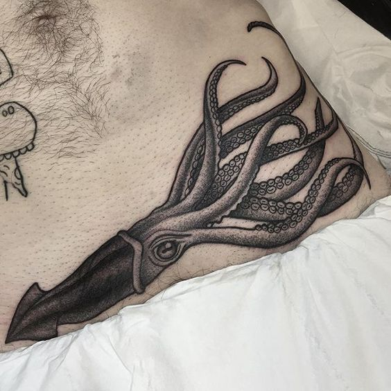 Squid belly tattoo