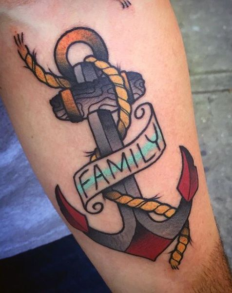Anchor with rope for family