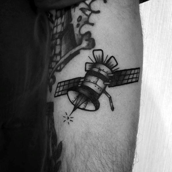 Black satellite tattoo
