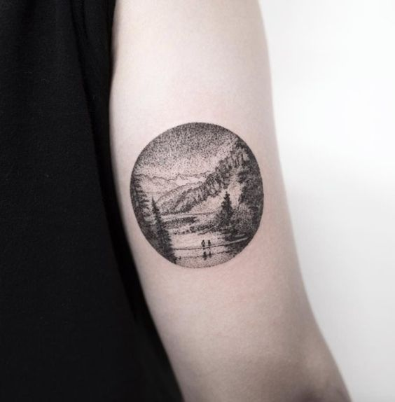 Dreamy landscape tattoo