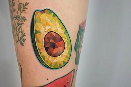 Avocado Tattoo Ideas For Healthy And Spiritually Minded People🥑