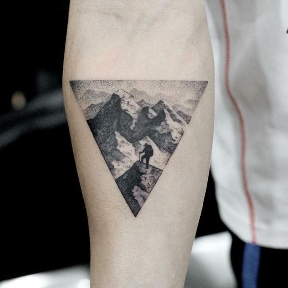 Mountain climber tattoo