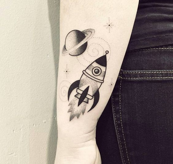 Rocket and saturn