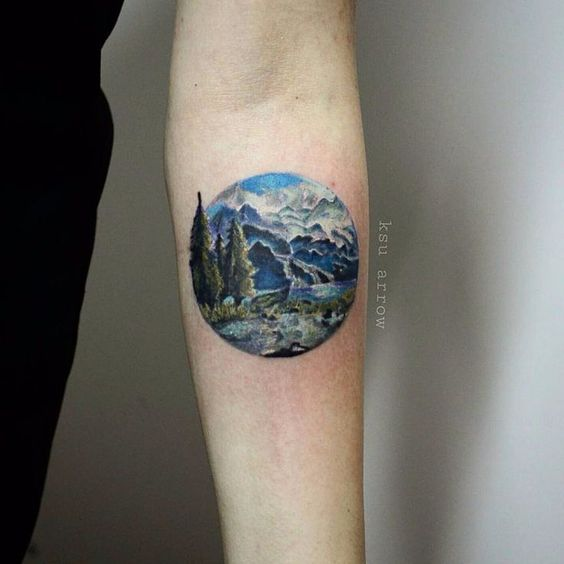 Rocky mountains landscape tattoos
