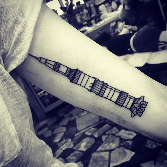 Saturn v tattoo