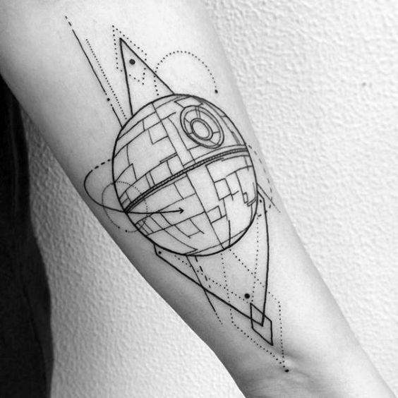 Scifi space probe tattoo