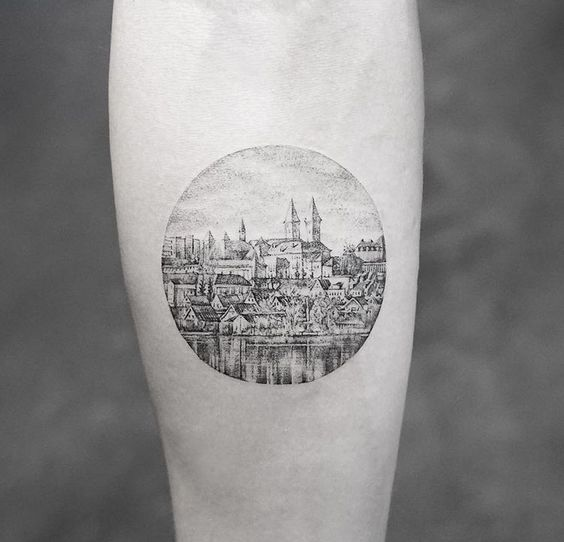 Small Church Tattoo: Landscape Tattoos Inspired By Our Wonderful Nature
