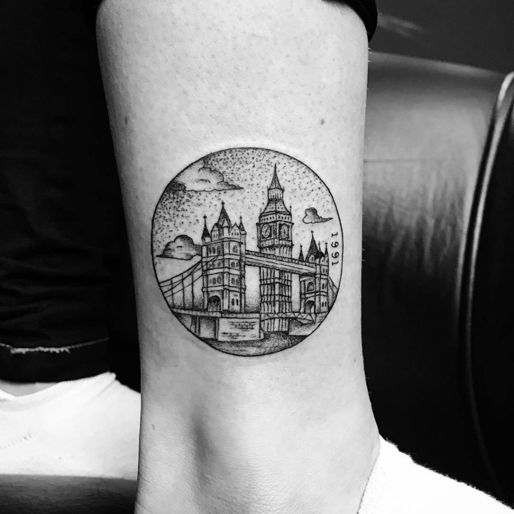 Tower bridge tattoo