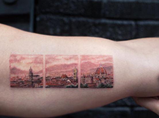 Vatican landscape tattoo