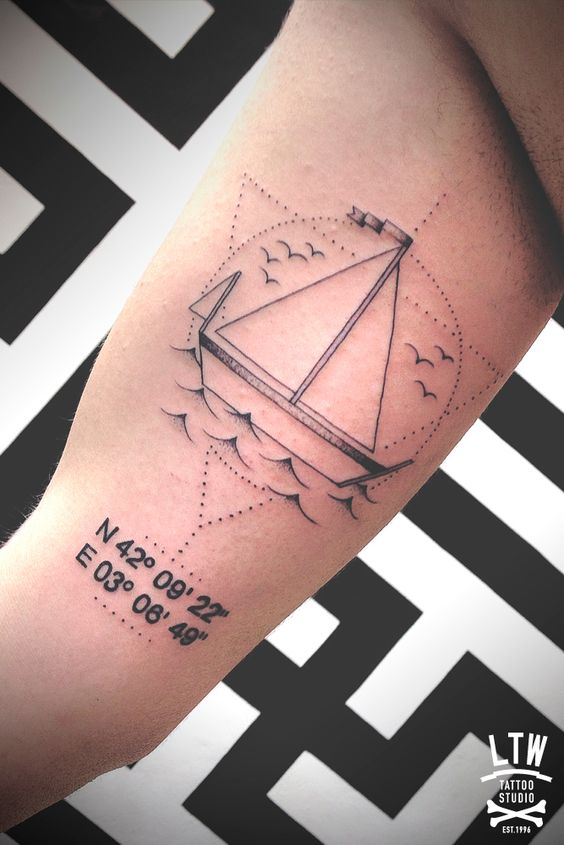 Boat and coordinates