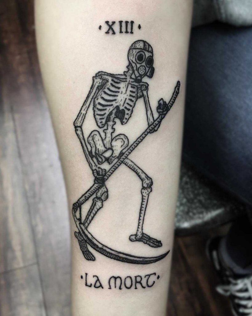 Death tarot card tattoo by Sean Gallagher