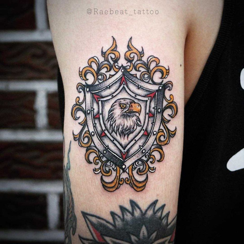 Eagle shield tattoo
