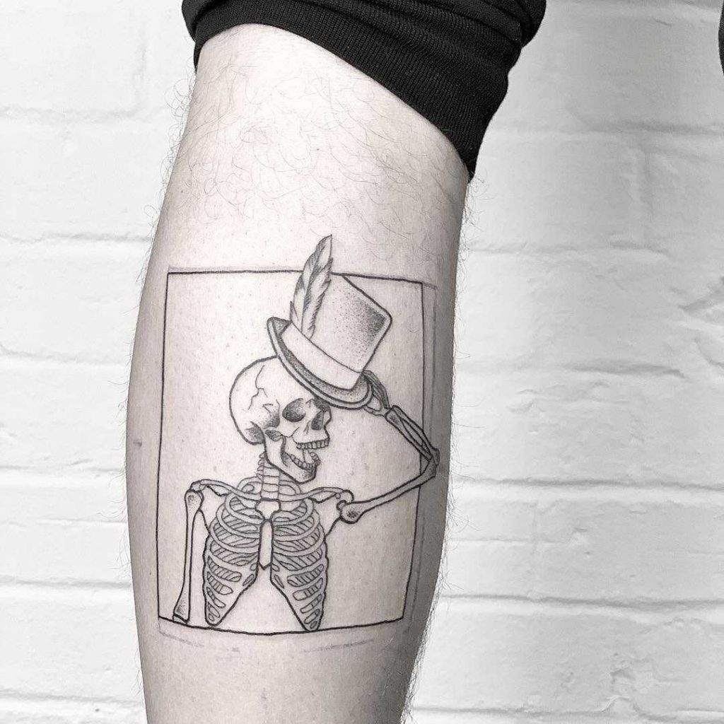 Gentlemen skeleton tattoo