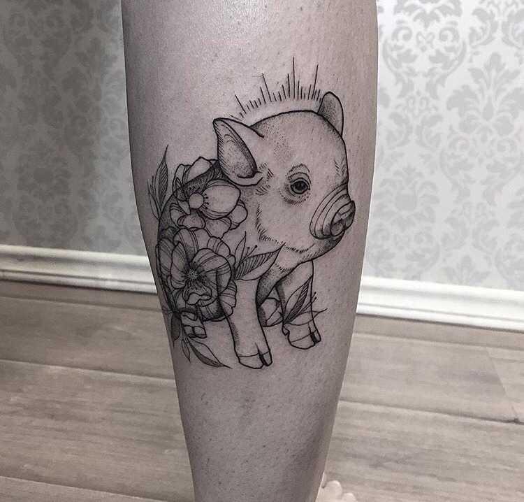 Pigglet tattoo by sandra cunhaa
