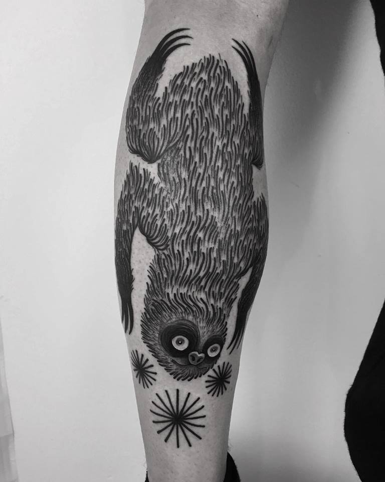 Sloth tattoo by laura yahna
